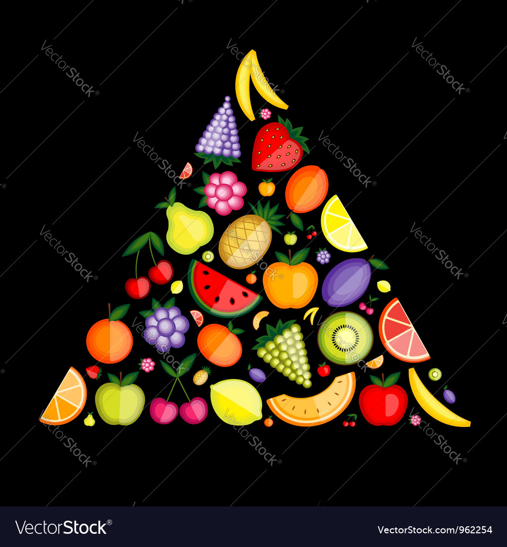 Fruit pyramid for your design vector