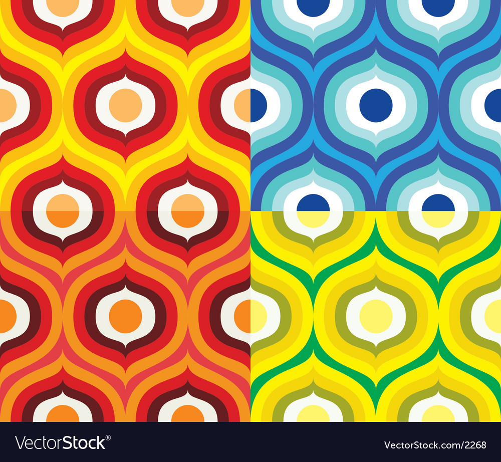 Free scandinavian retro pattern vector