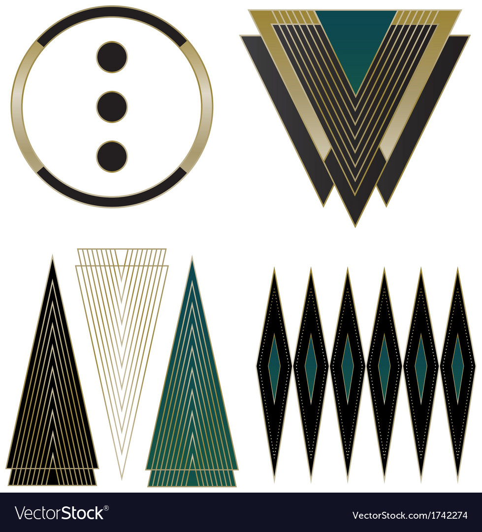 Art Deco Logos And Design Elements Vector By Wingnutdesigns Image