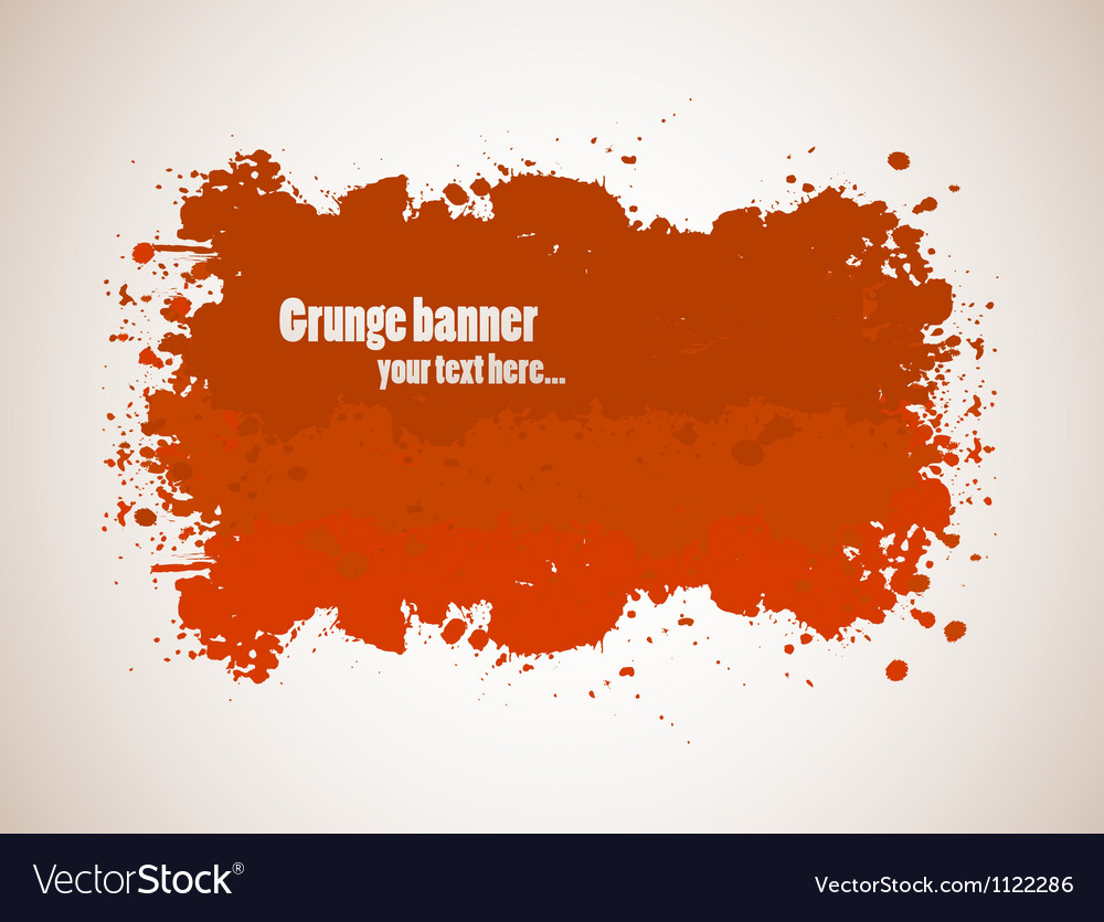 Abstract gunge banner vector