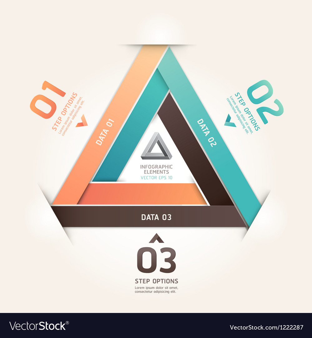 Modern infinite triangle origami vector