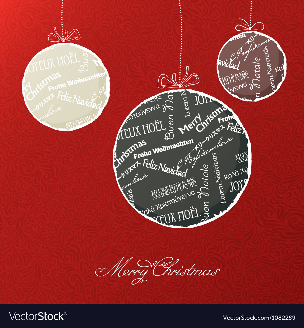 Xmas balls background vector