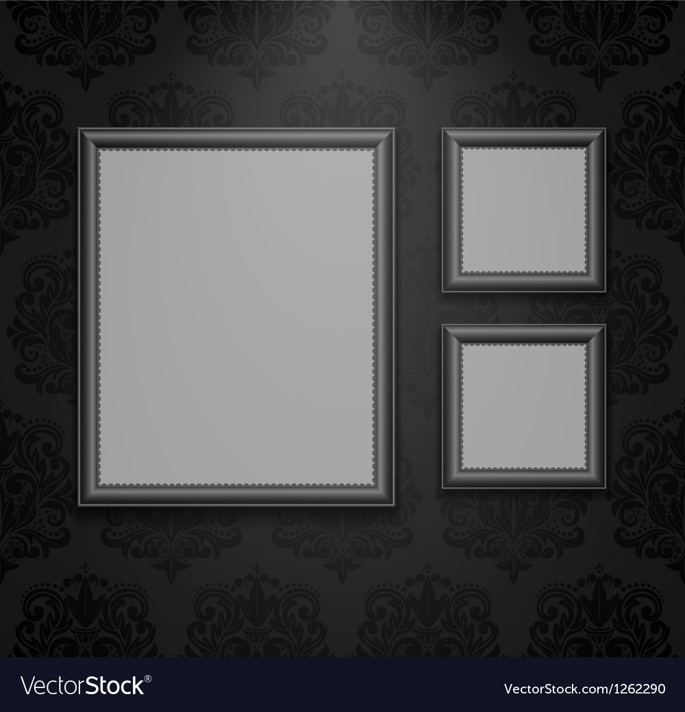 Empty frames on the wall vector