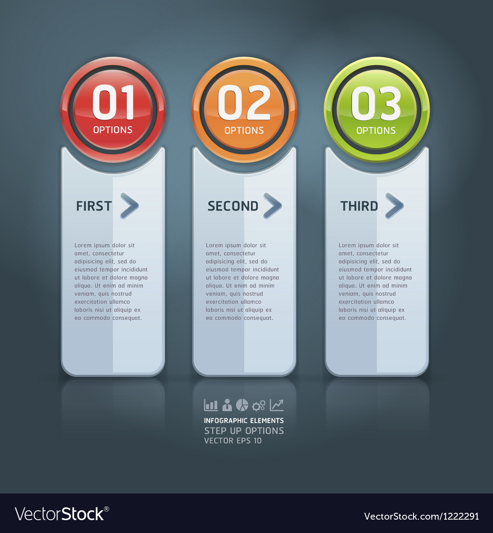 Colorful options banner template vector