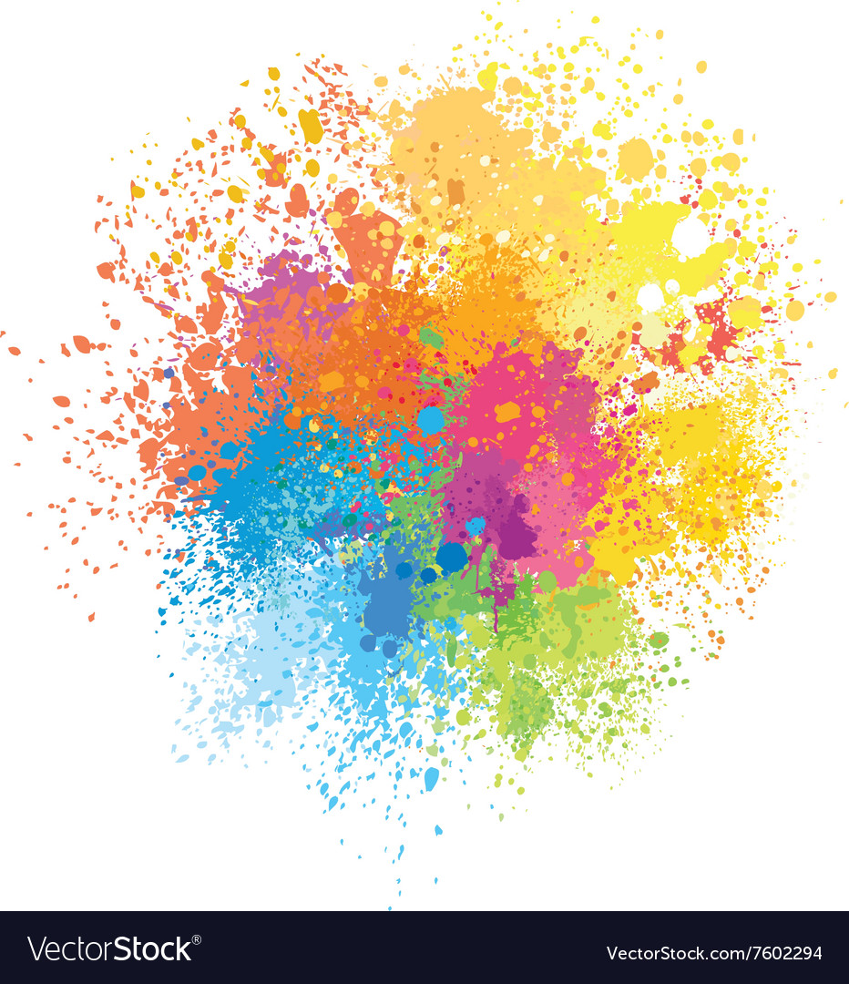 Color background of paint splashes vector