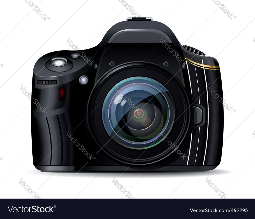 Digital reflex camera vector