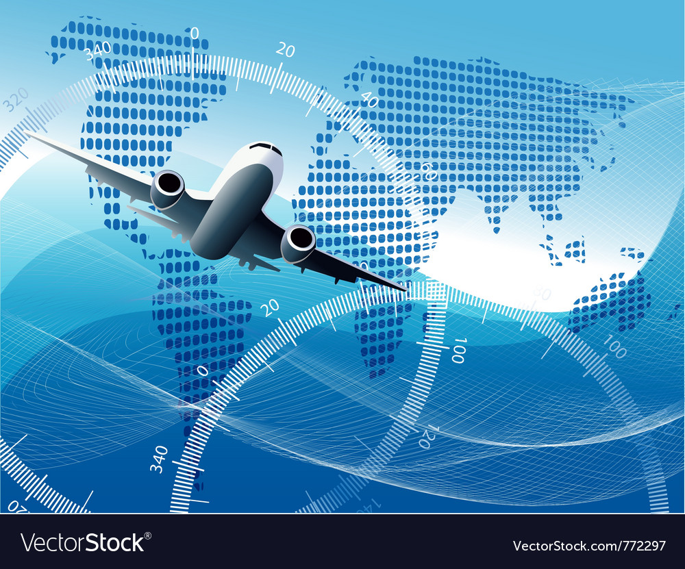 Plane background vector