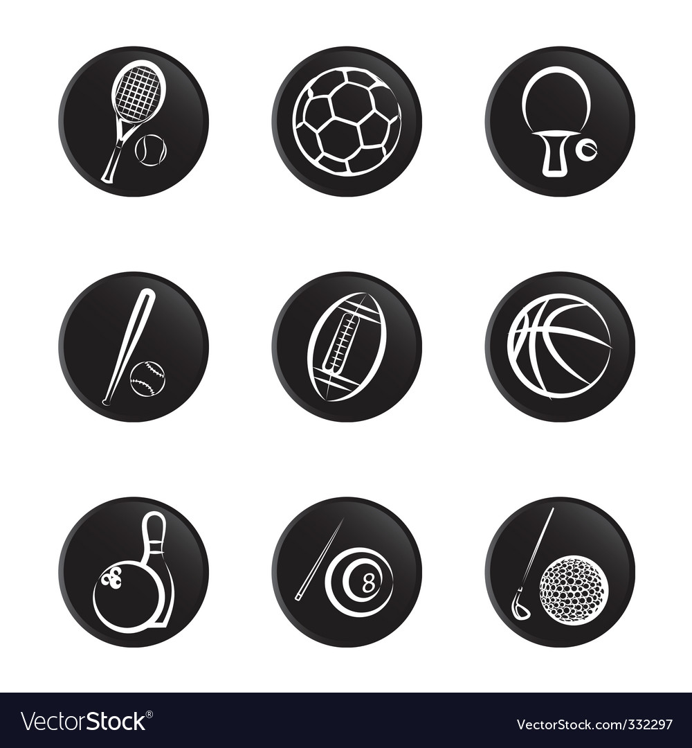Sport object icon vector
