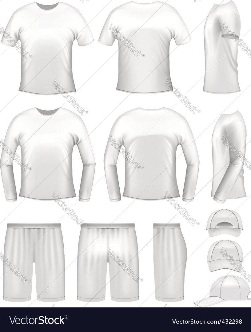 White mens clothing set vector