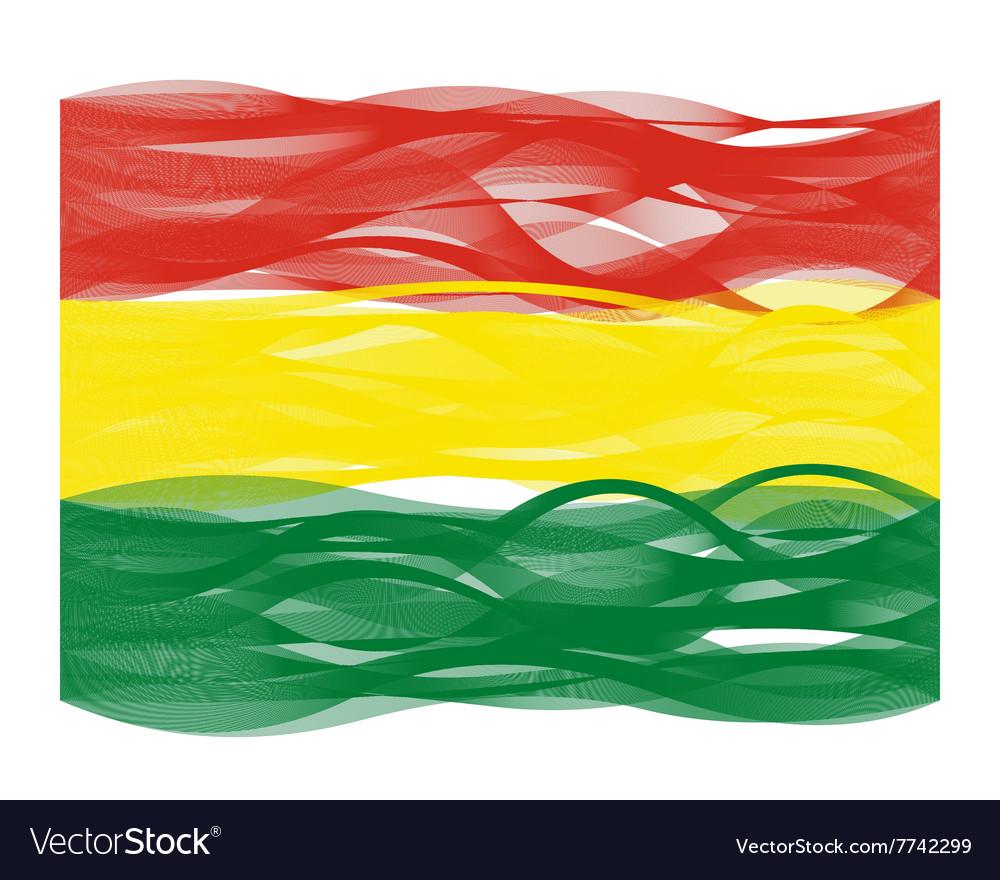 Wave line flag of bolivia