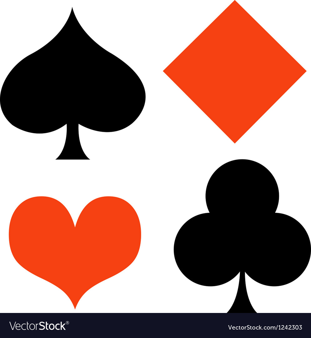 Poker card suites vector