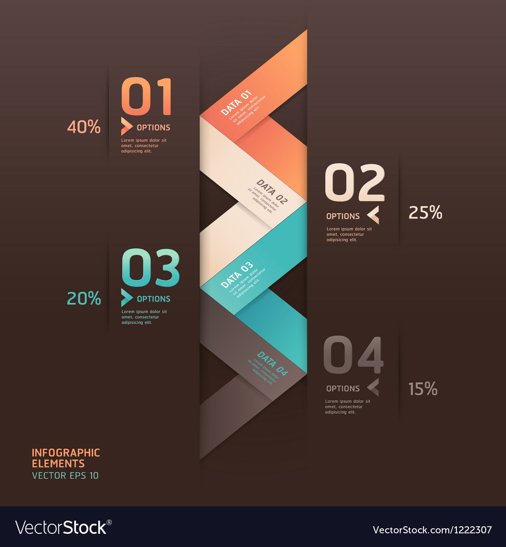 Modern arrow infographics origami style vector