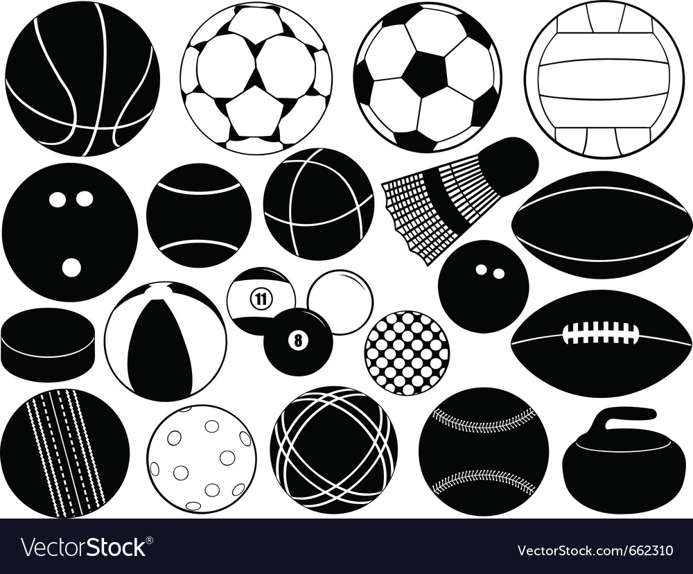 Different game balls vector