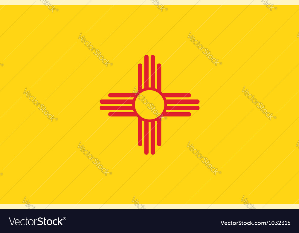 New mexico flag vector