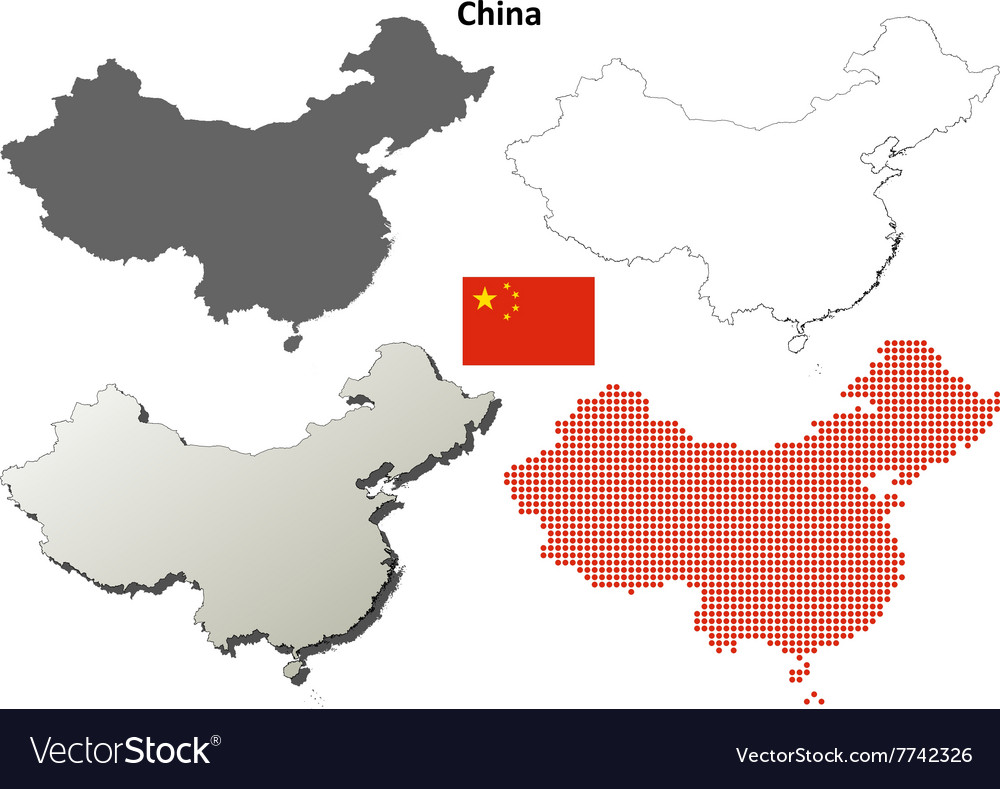 China outline map set