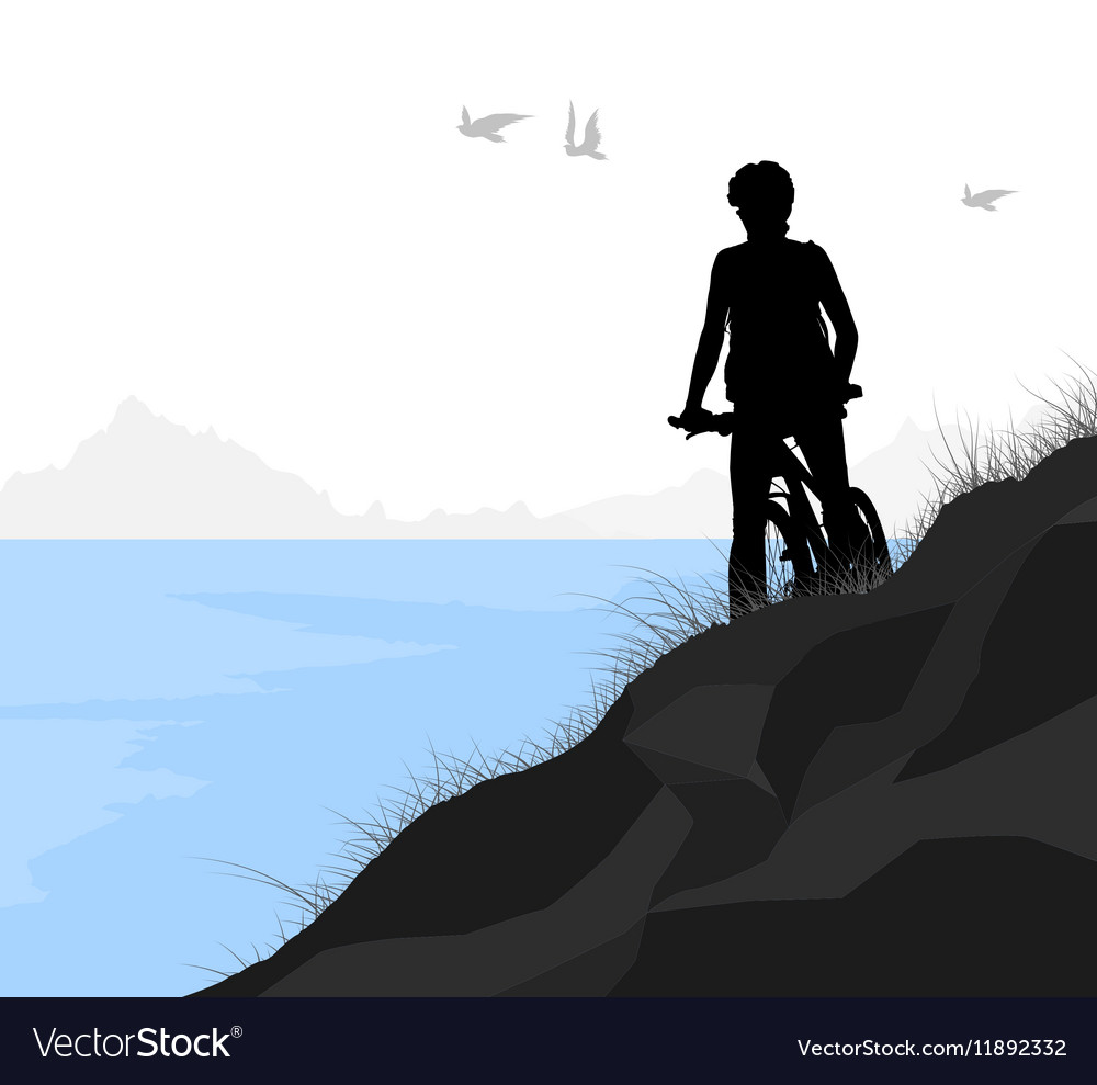 Lake and cycling