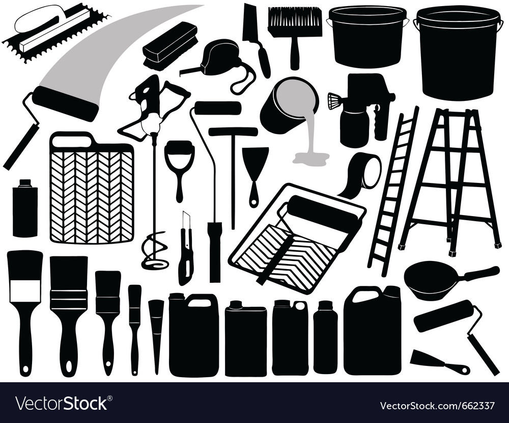 Painting objects and elements vector