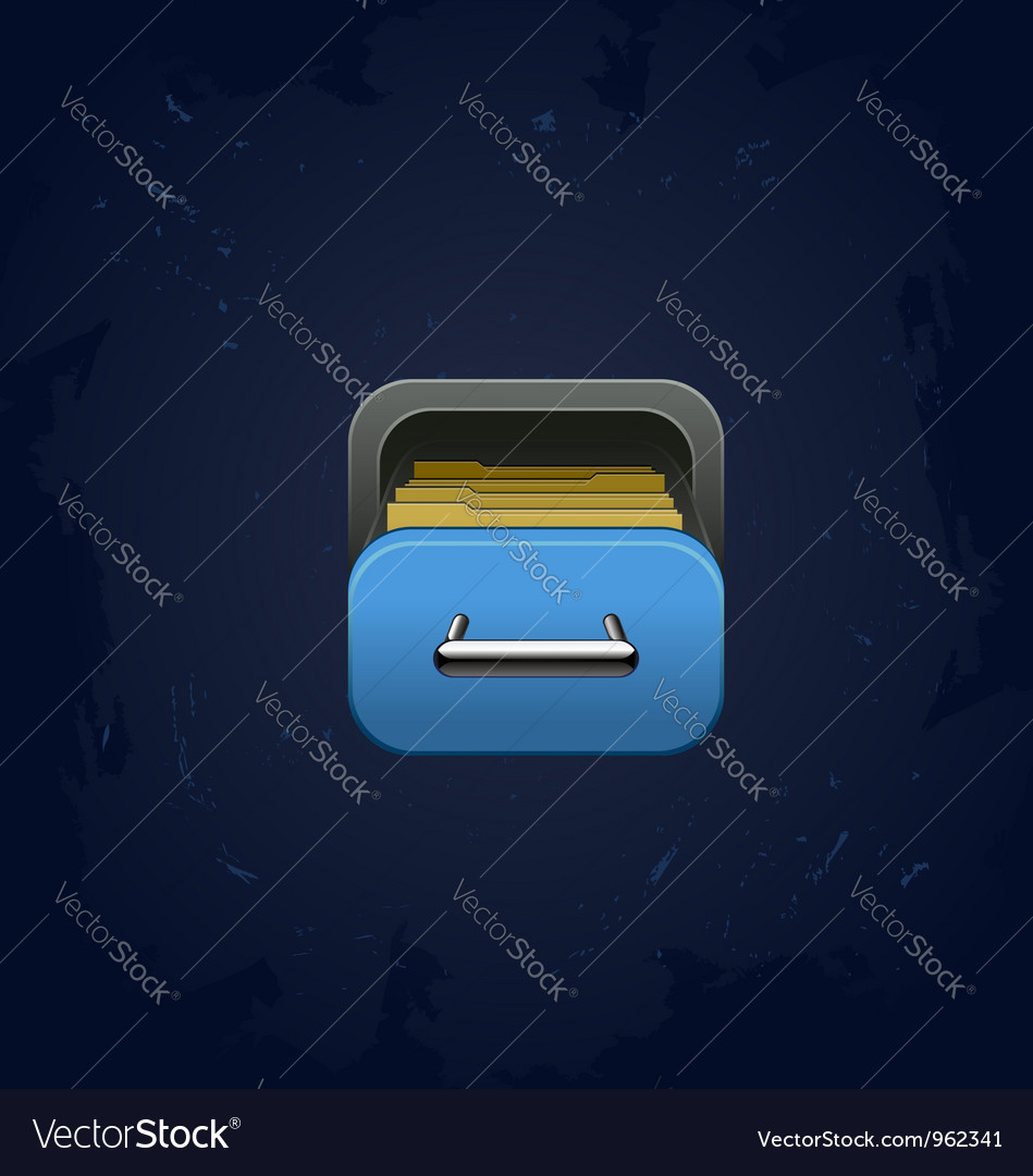 Archive square icon vector