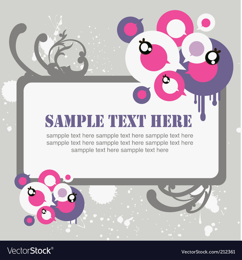 Graphic frame vector