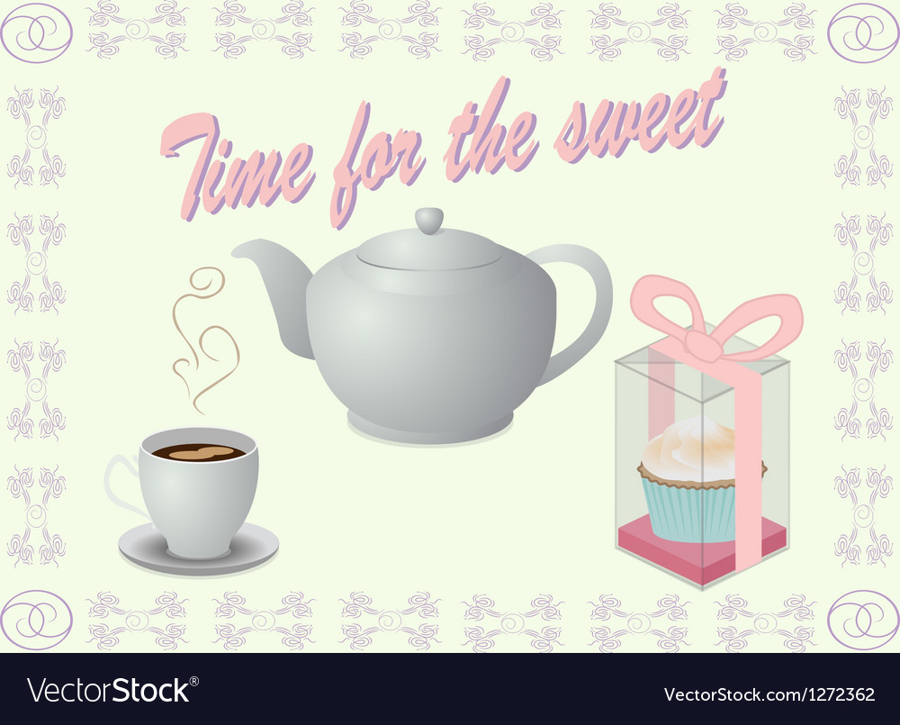 Sweet tea vector