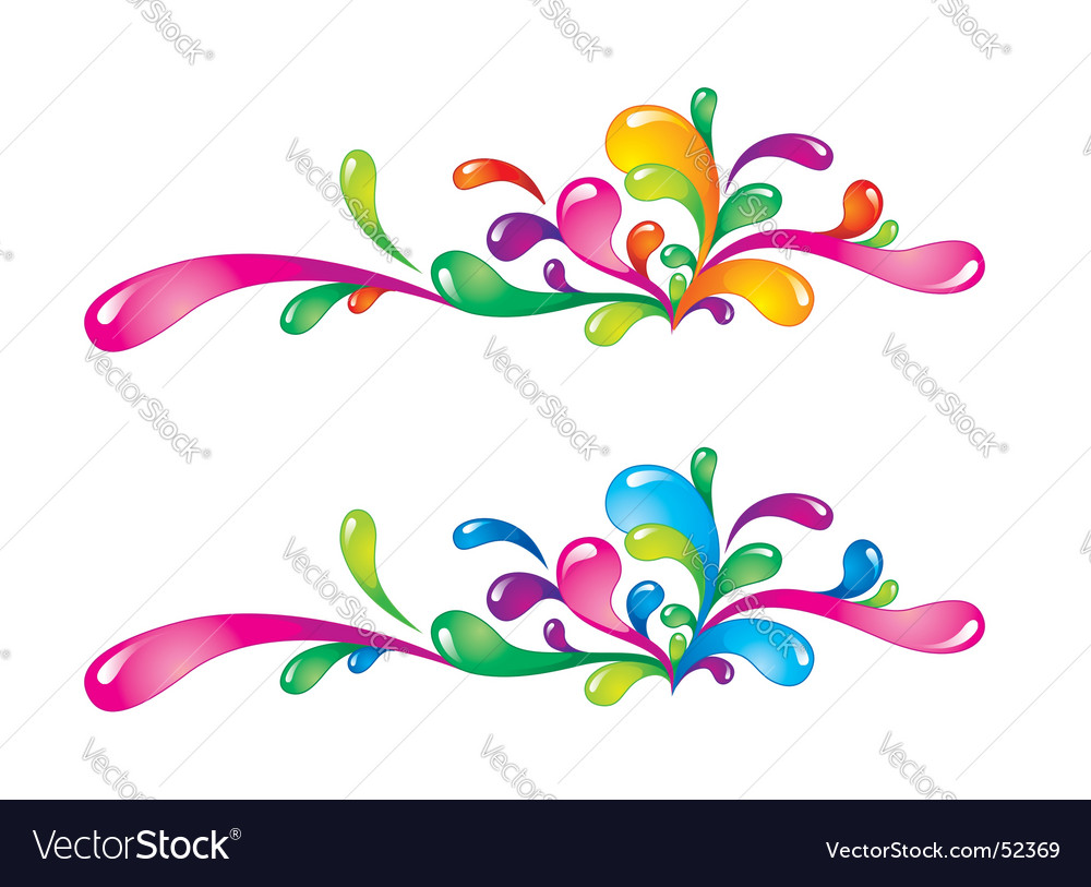 Colorful splashes vector