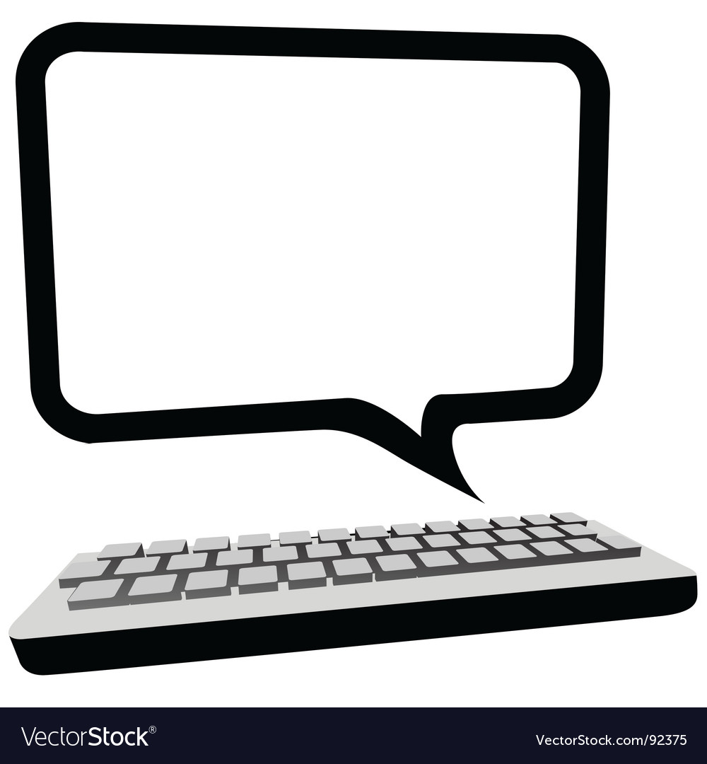 Speech bubble communication vector