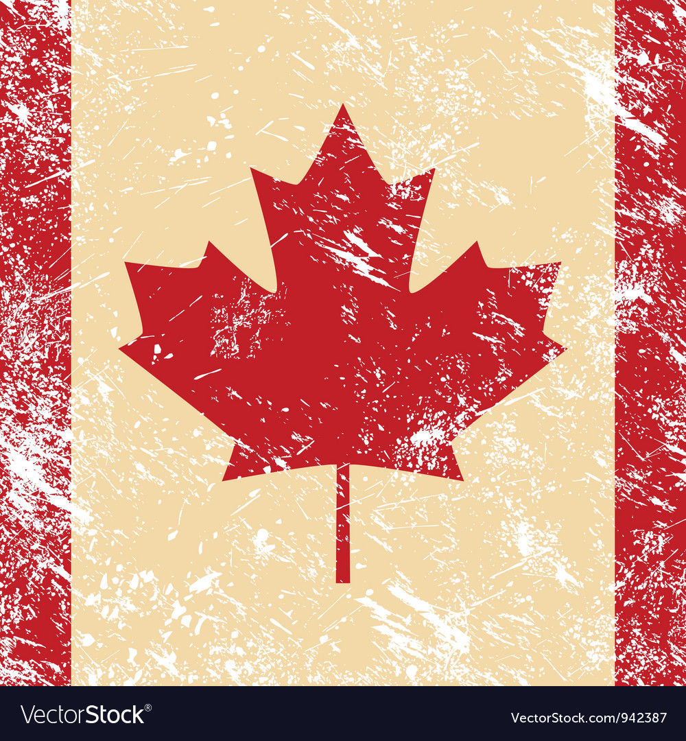 Canada retro flag vector