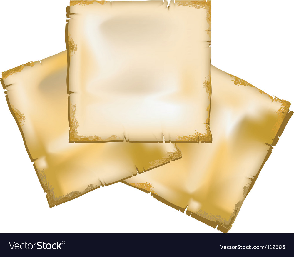 Old sheets of paper vector