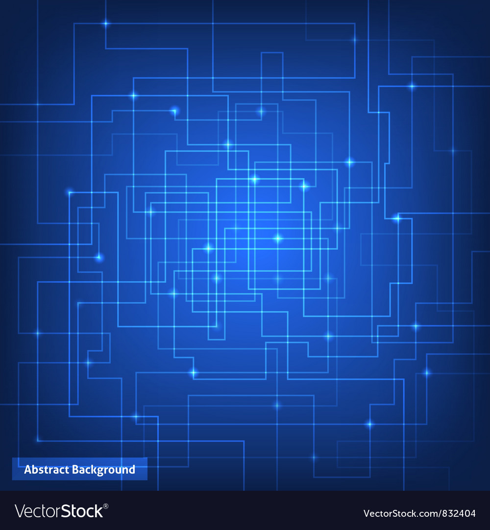 Virtual circuit technology background vector