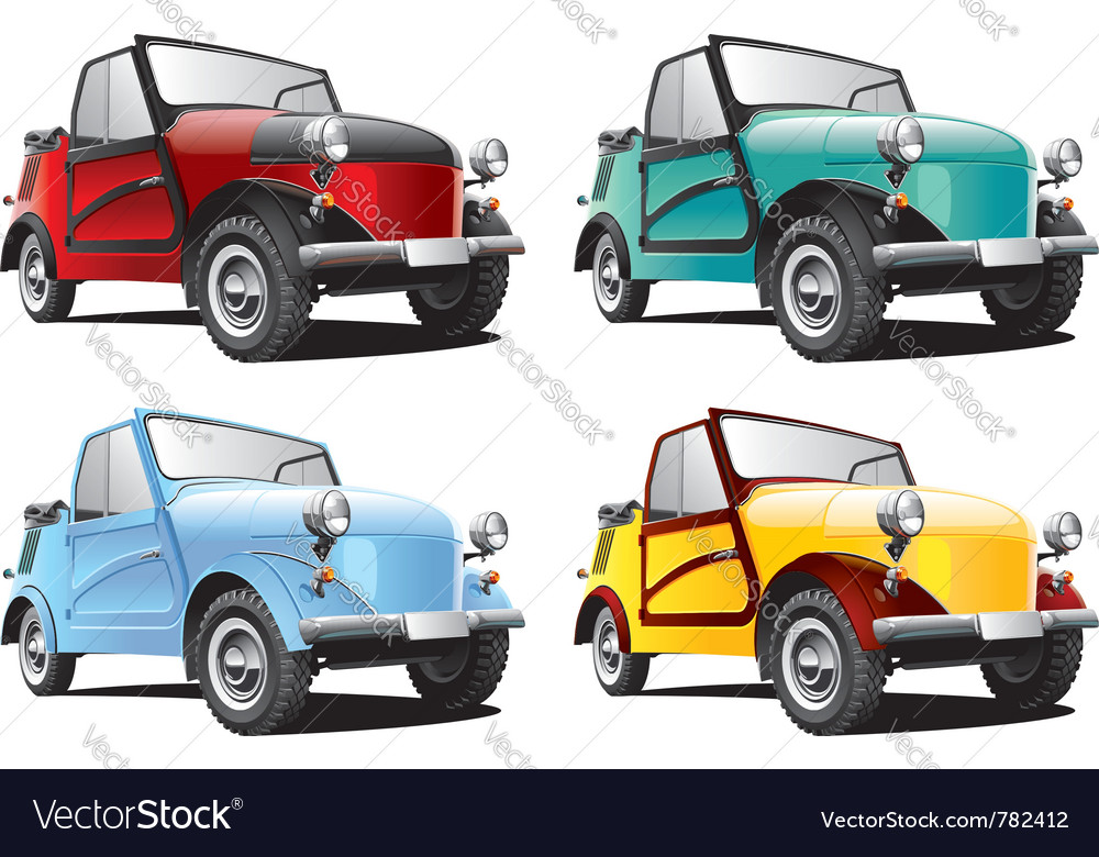 Vintage classic convertable car vector
