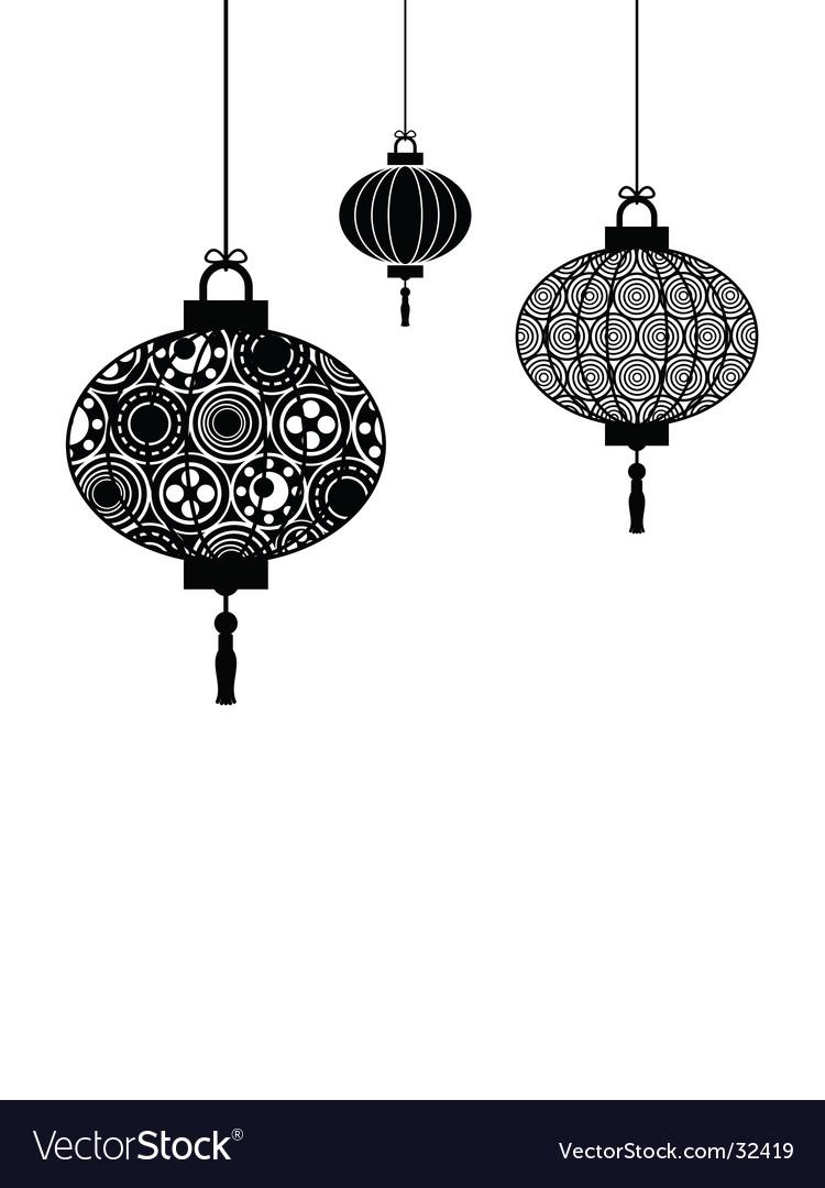 Chinese lanterns vector by mattasbestos - Image #32419 - VectorStock