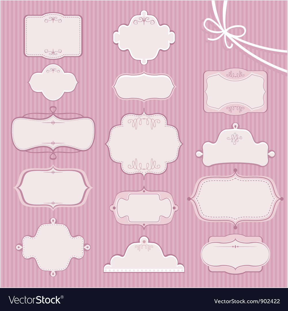 Wedding frames vector