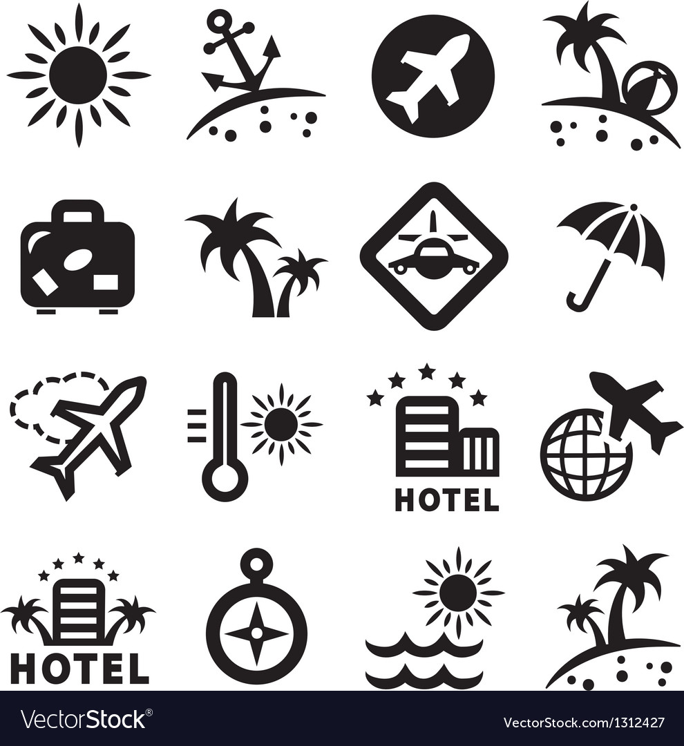 Travel ions set vector
