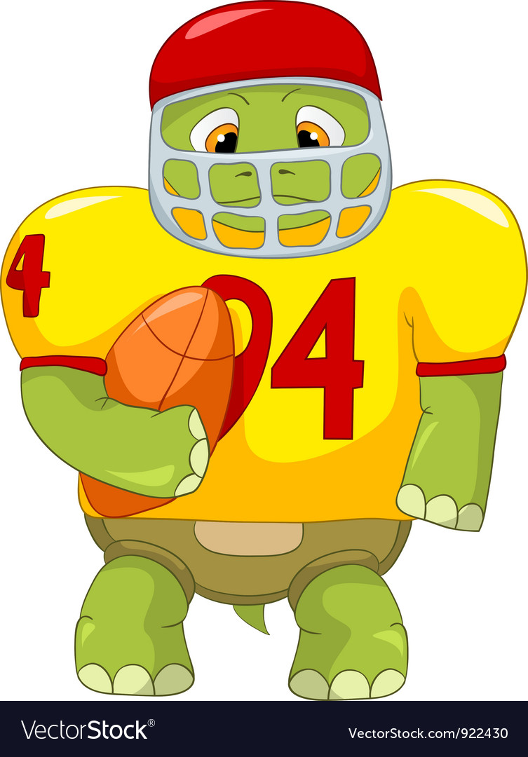 Funny turtle rugby vector