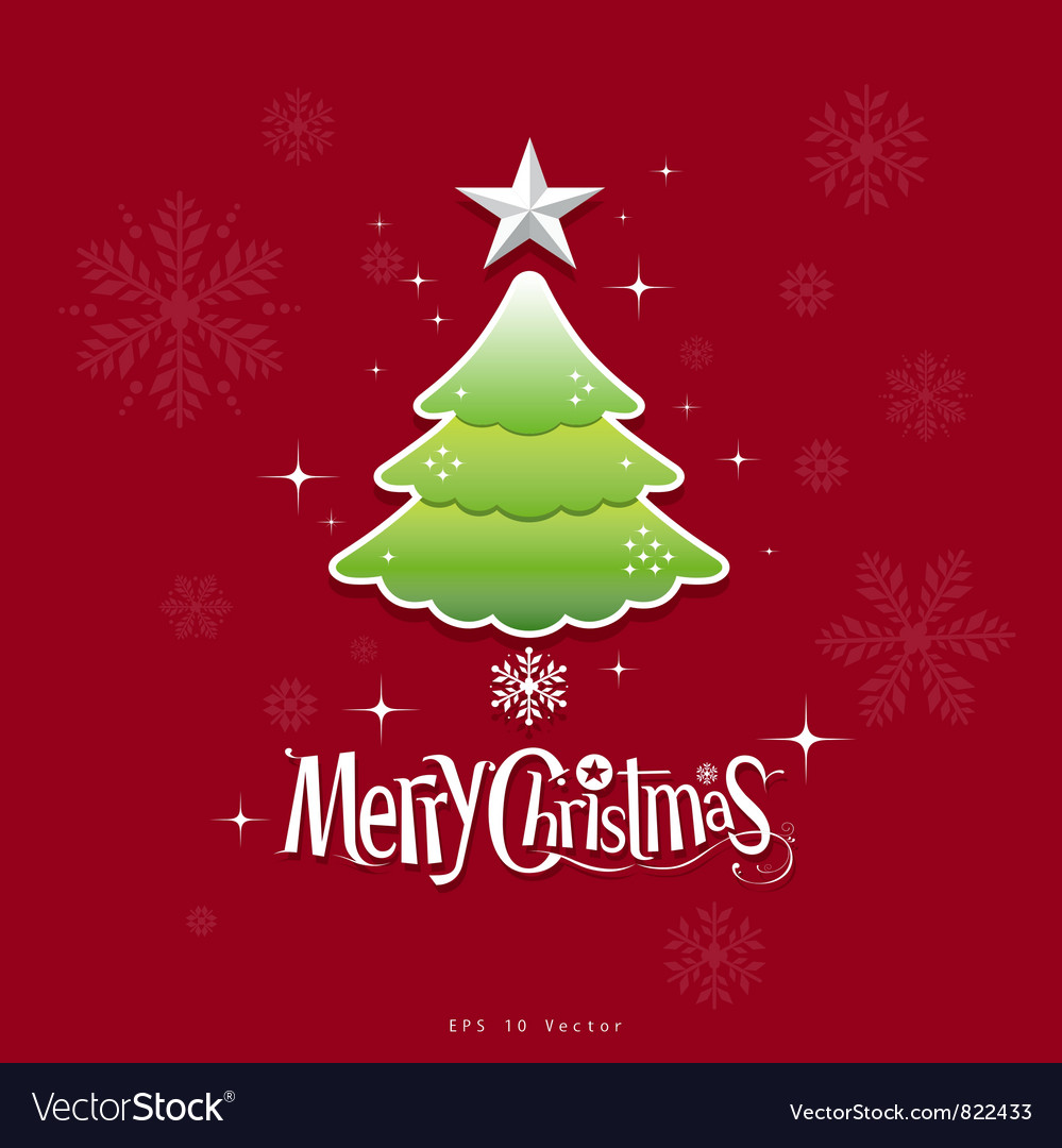 Christmas green tree design vector