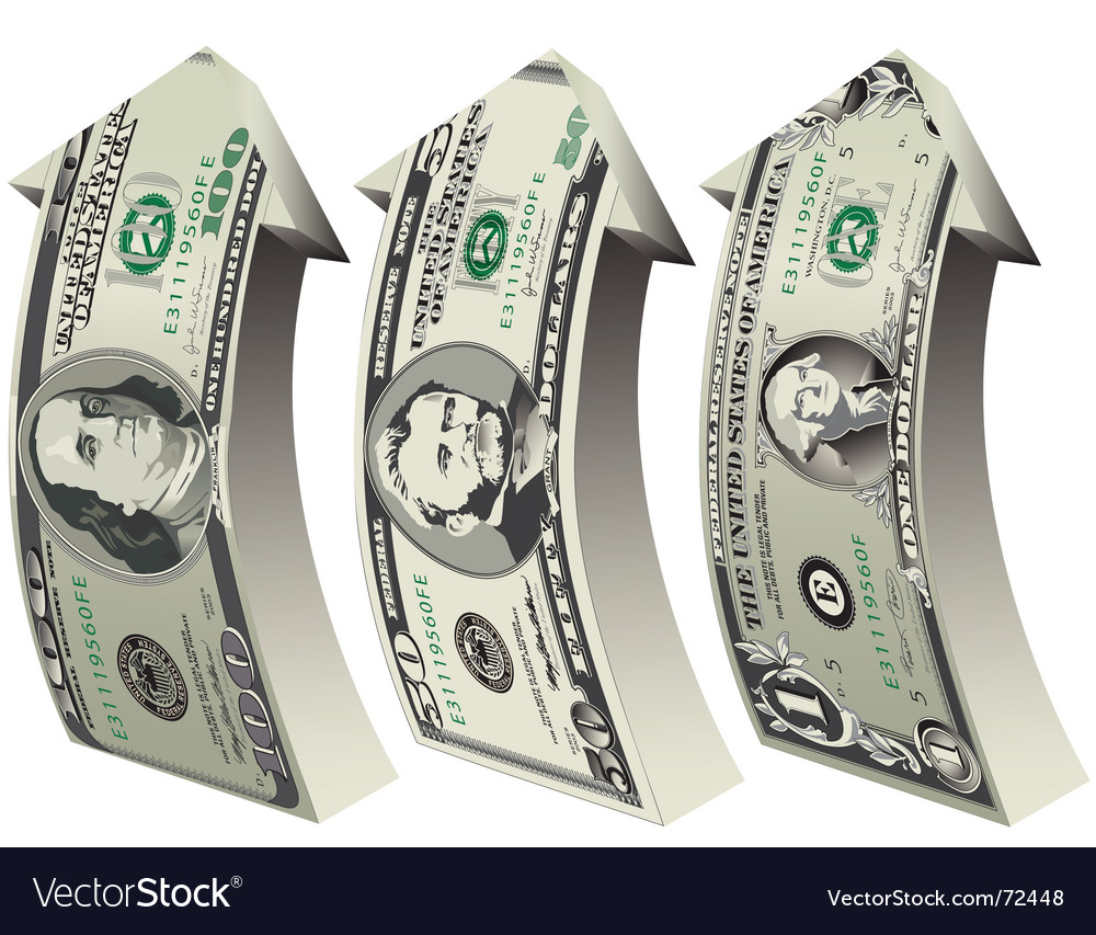 Arrow bills vector
