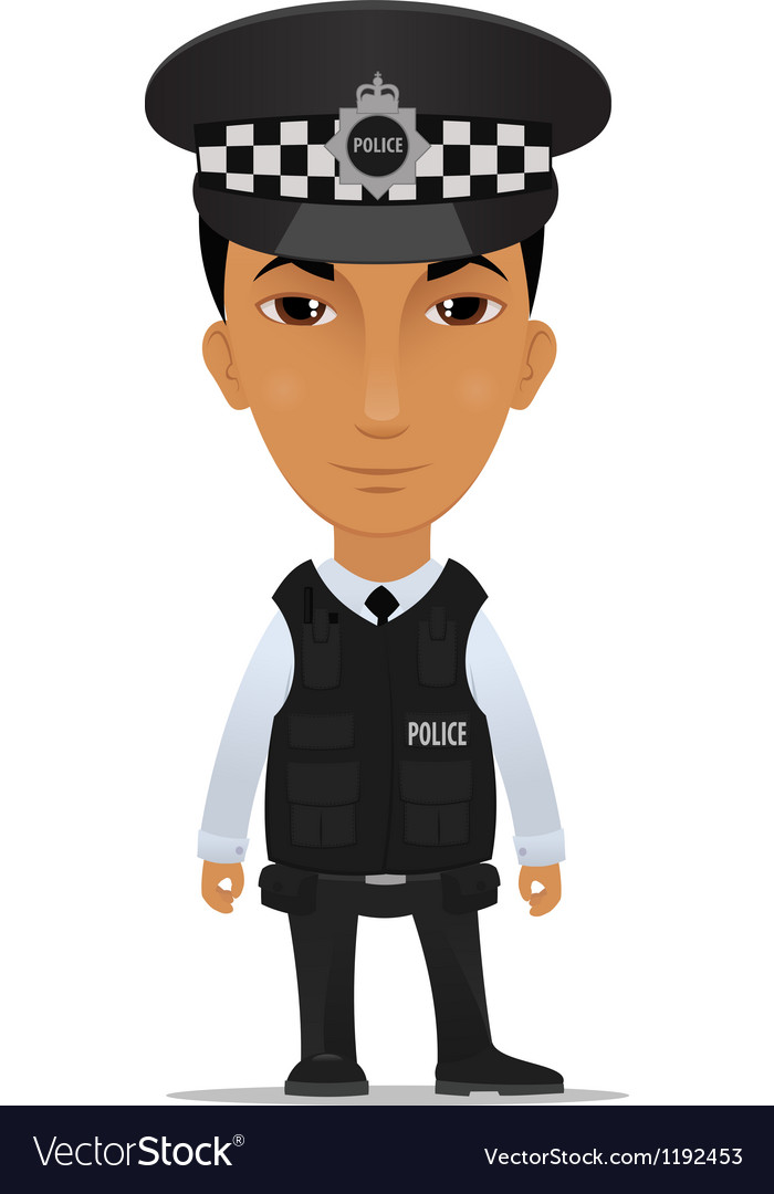 Police officer uk vector