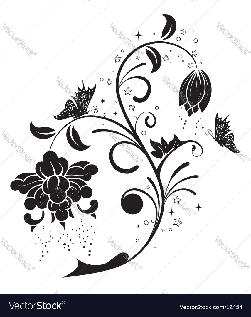 Backgroundflower vector