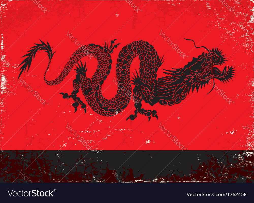 Black dragon vector