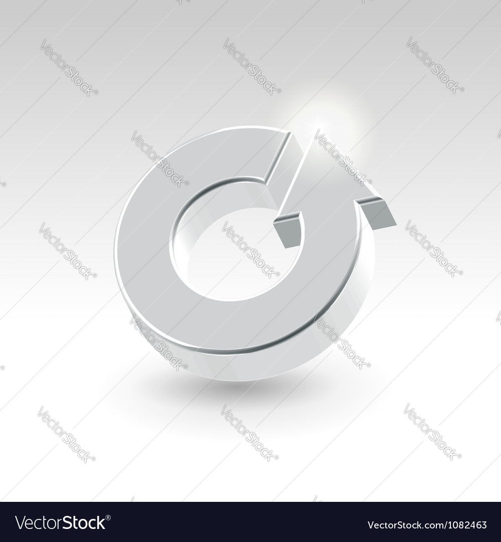 Abstract turnover icon vector