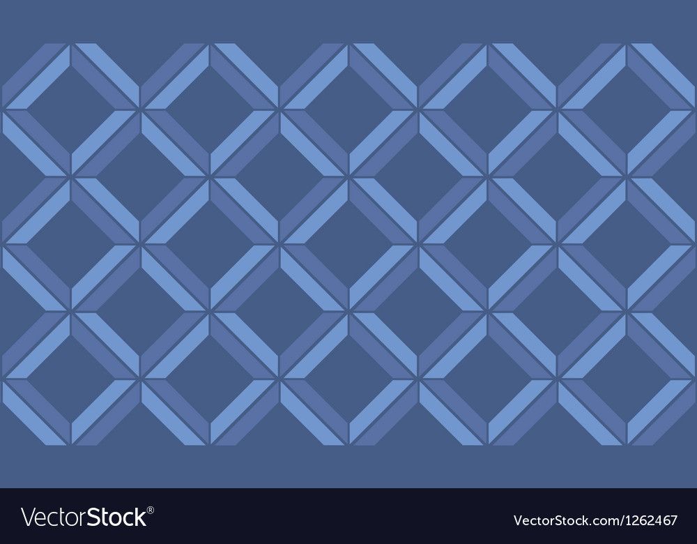 Blue chevron vintage seamless pattern vector