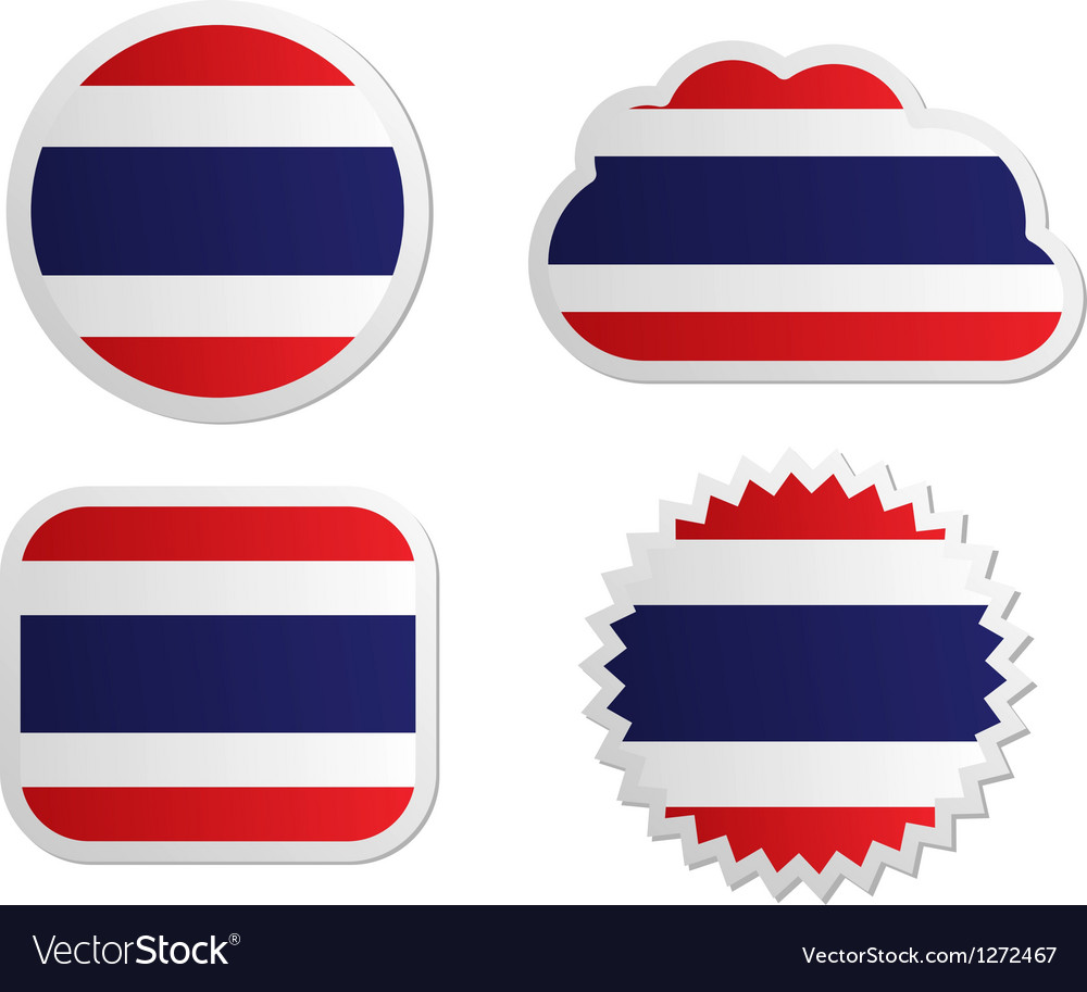 Thailand flag labels vector