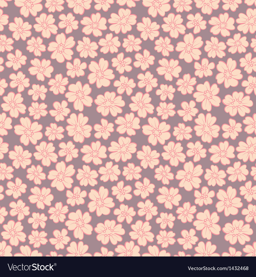 Cute flowers seamless vector