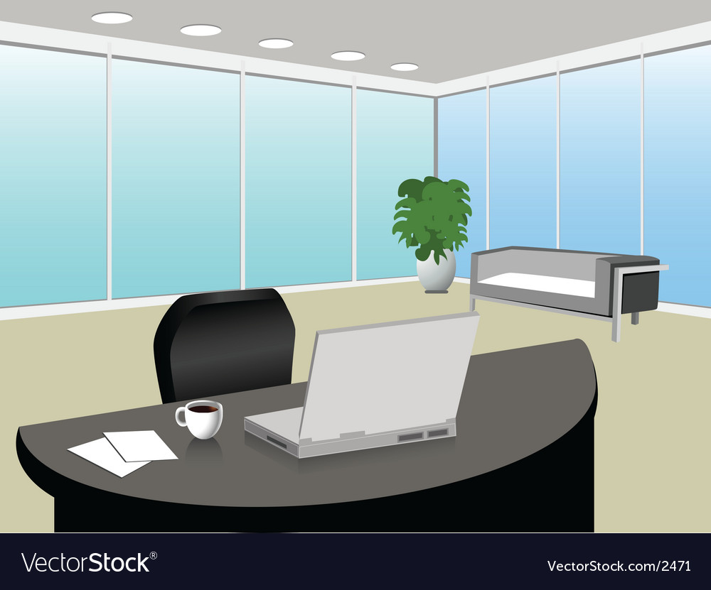 Modern office vector