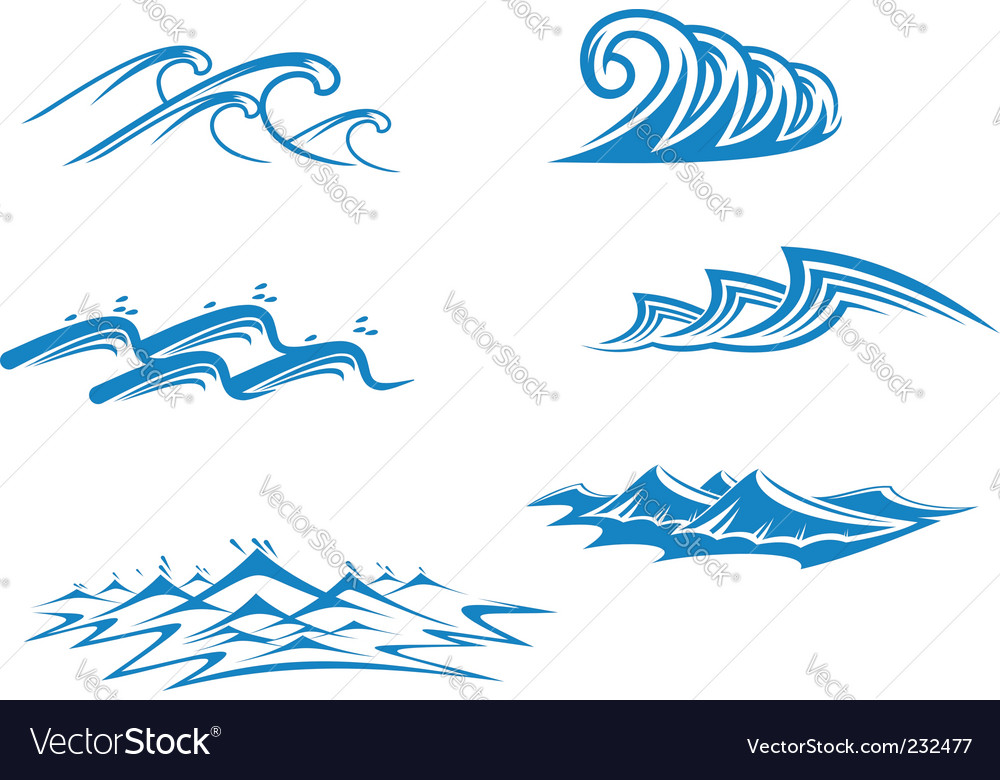 Wave symbol and icon Logo Template vector - Stock Illustration ...