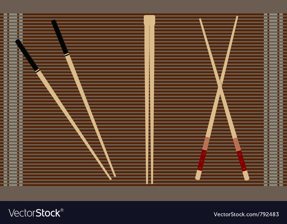 Chopsticks for sushi vector