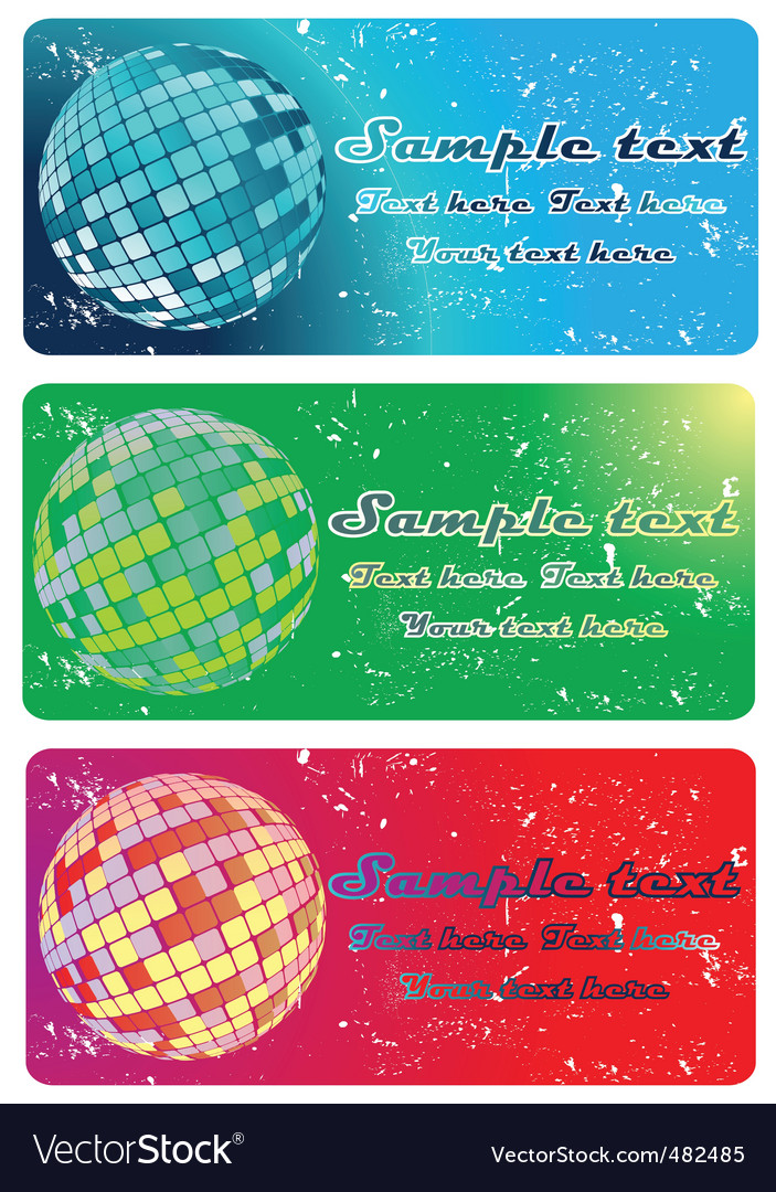 Globe banners vector