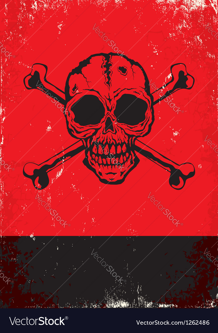 Poster with the skull vector