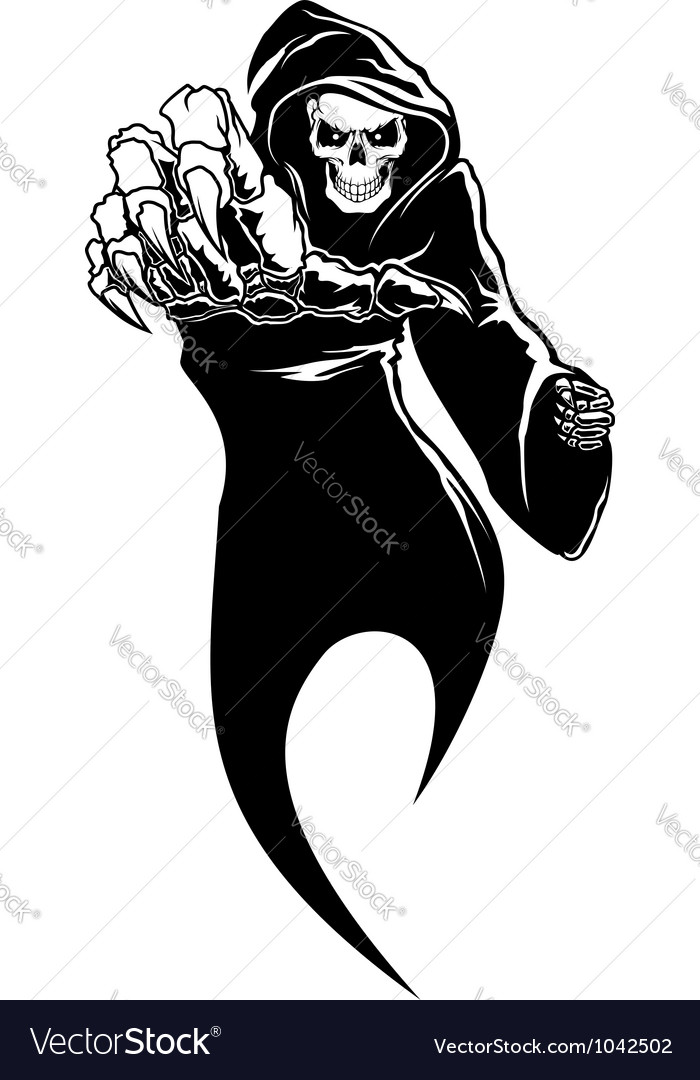 Black horror  danger death with bones vector