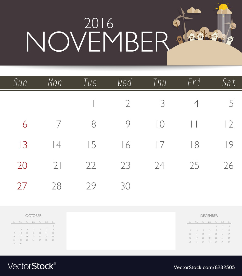 2016 calendar monthly calendar template for vector by jannoon028 ...